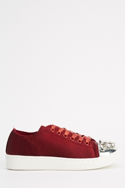 Ideal Diamante Encrusted Trainers