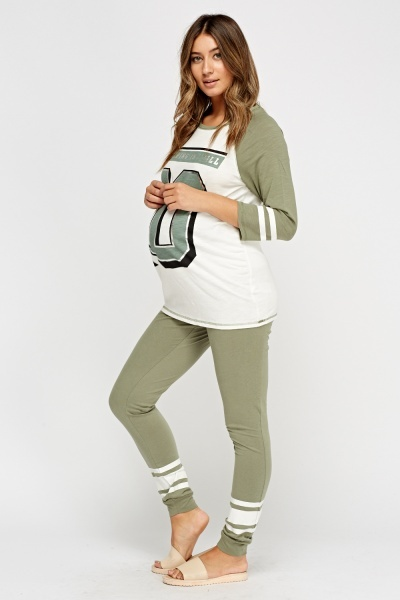 Joggers And Top Maternity Set