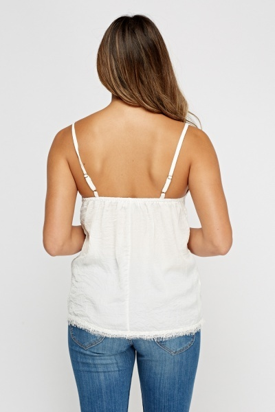 Laced Trim Cami Top