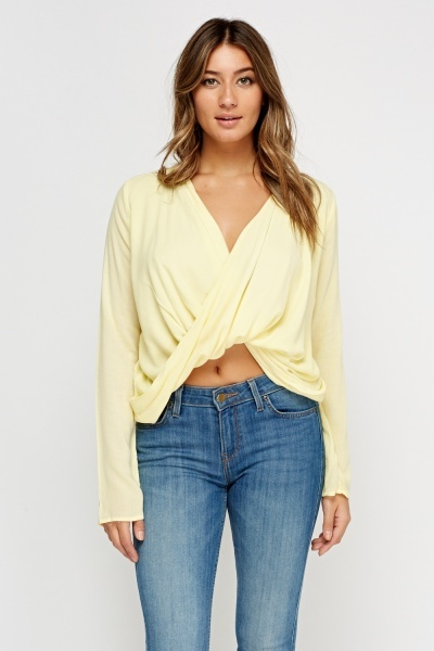 Twist Front Casual Top