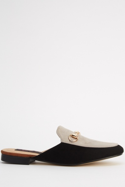 Contrast Slip On Detailed Shoes