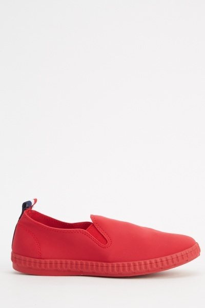 Rosso Slip On Shoes