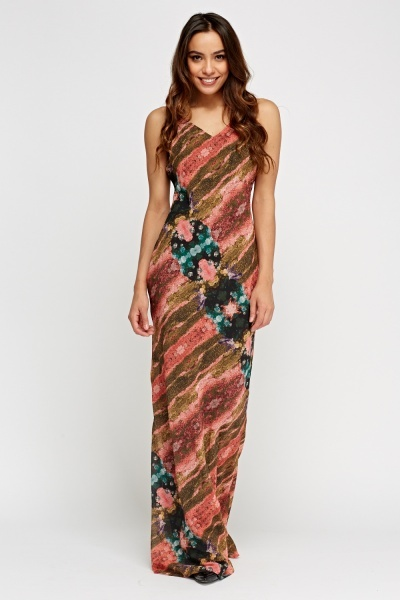 Green Multi Printed Maxi Dress