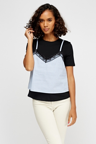 2 In 1 Cami Overlay Top