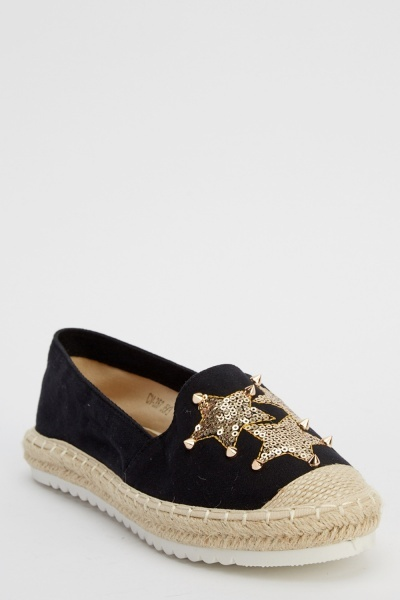 Espadrille Studded Star Shoes