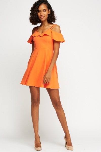 Flared Front Swing Dress