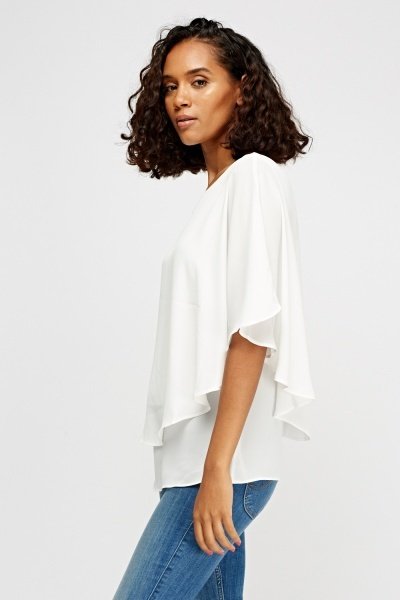 Ivory Batwing Top