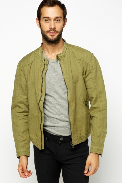 Casual Zip Front Jacket