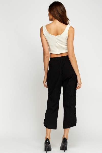 Detailed Side Cropped Trousers