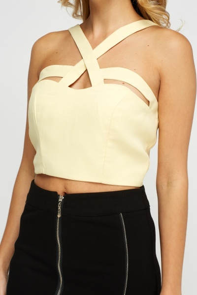 Light Yellow Crop Top