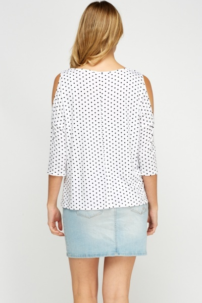 Polka Dot Print Casual Top