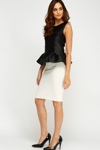 Sateen Peplum Top