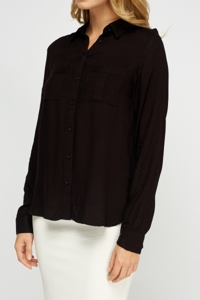 Twin Front Pocket Casual Shirt