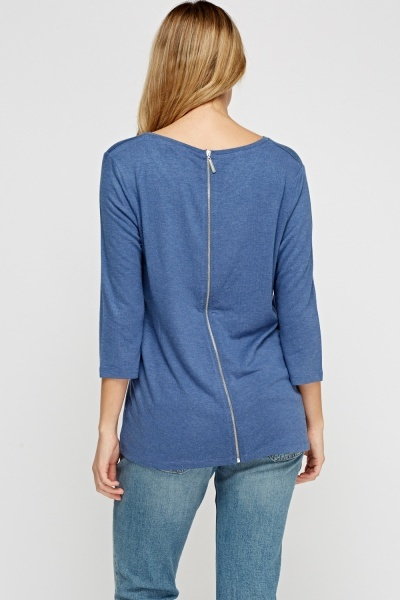 Zip Back Casual Top