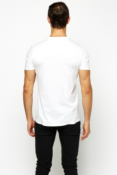 Off White Printed T-Shirt
