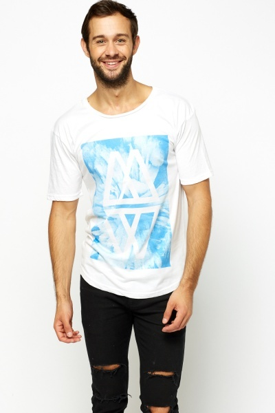 Printed Graphic White T-Shirt