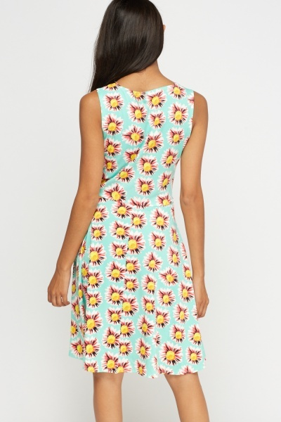 Sunflower Printed Swing Dress