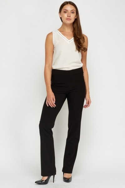 Black Casual Trousers