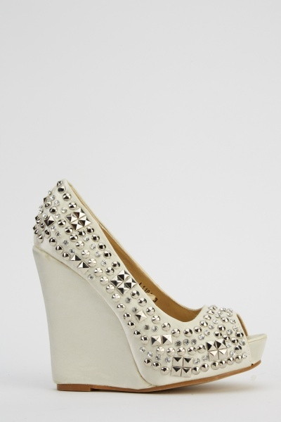 Embellished Wedge Heels