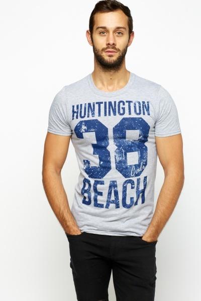 Printed Grey T-Shirt