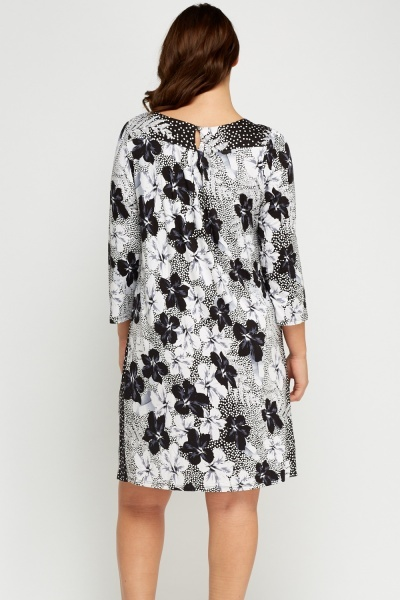 Simple And Chic Flower Printed Dress