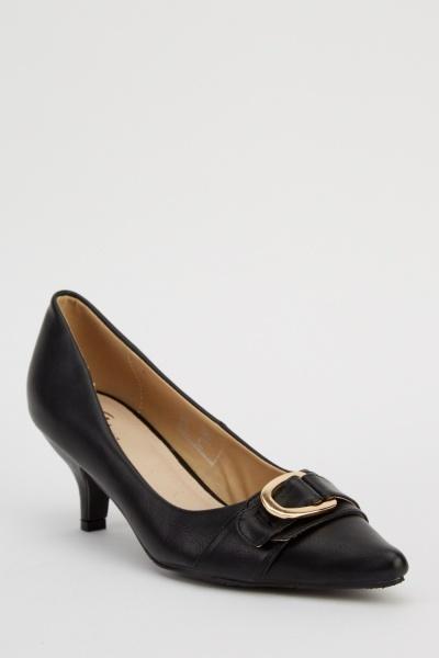 Buckled Court Heels