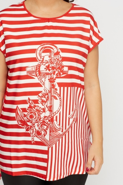 Anchor Printed Top
