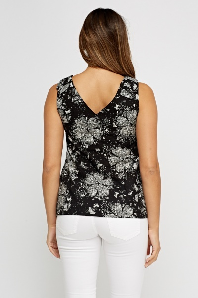 Printed Fitted Top