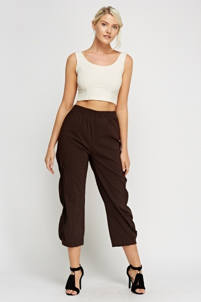 Detailed Side Casual Trousers
