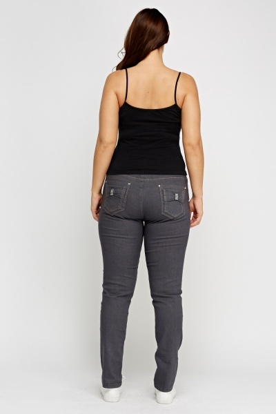 Diamonte Side Ash Denim Jeans