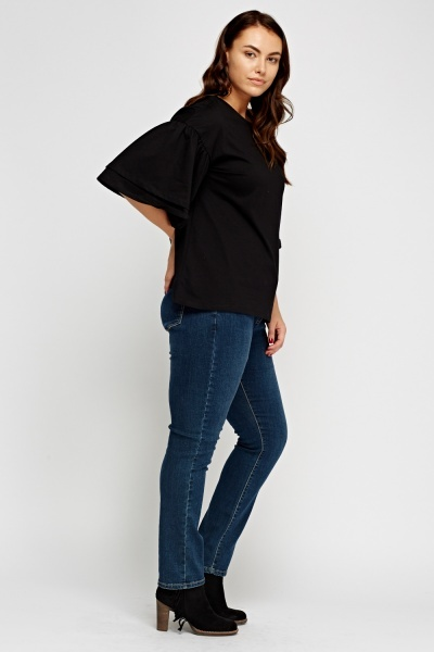 Straight Leg Casual Jeans