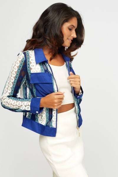 Mesh Insert Light Weight Jacket