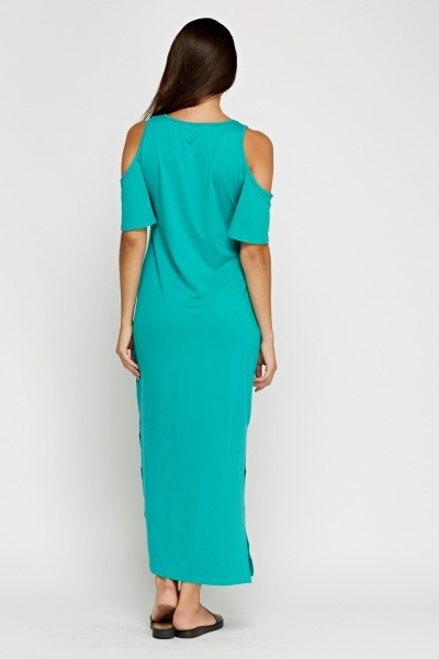 Basic Cold Shoulder Maxi Dress
