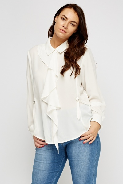 Flared Button Up Blouse