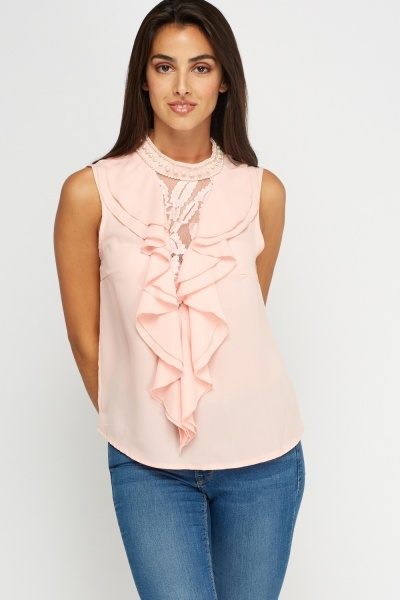Pearl Ruffled Top