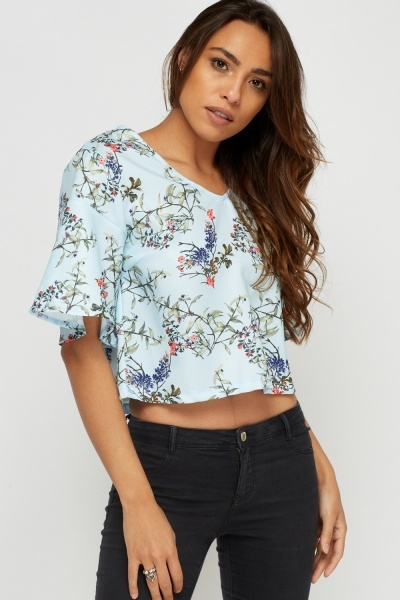 Flare Sleeve Printed Box Top