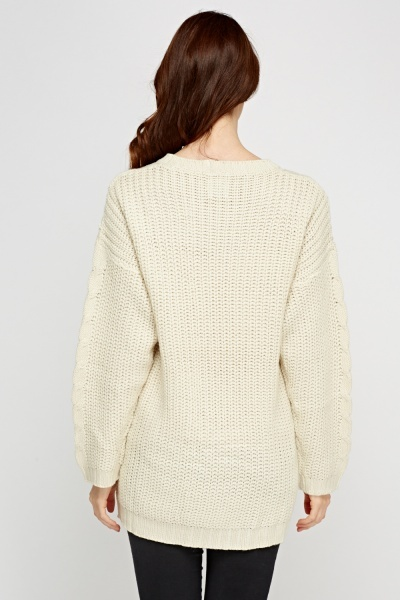 Cable Knit Thick Knitted Jumper
