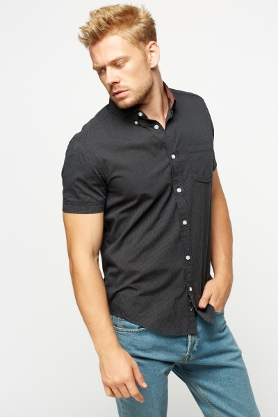 Pinstripe Charcoal Shirt
