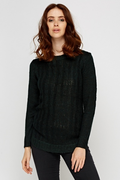Speckled Woven Knitted Jumper