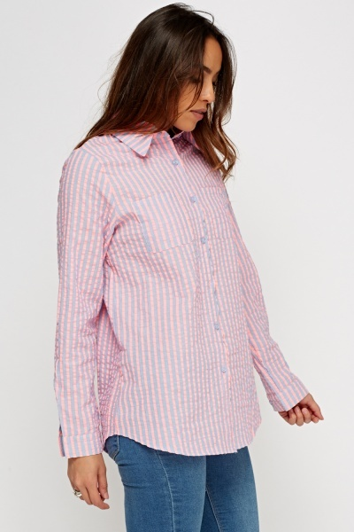 Textured Striped Shirt