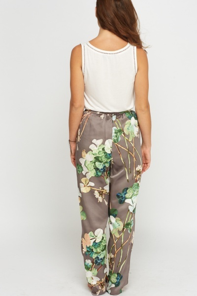 Silky Floral Lounge Trousers