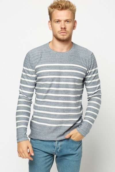 Striped Long Sleeve Pullover