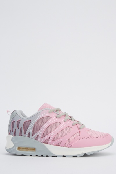 Lace Up Low Top Ombre Trainers