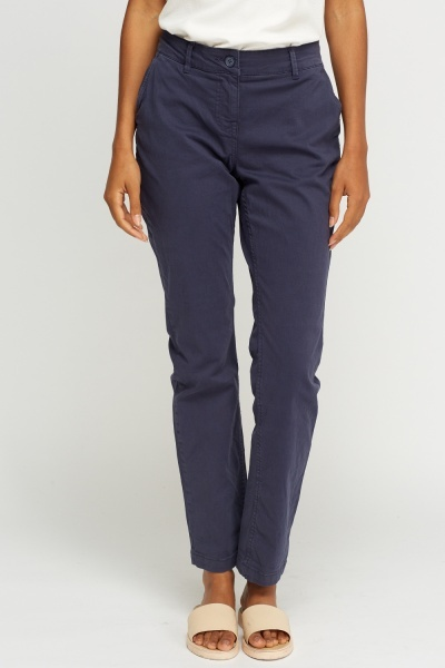 Chino Straight Leg Trousers