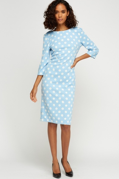 Dot Printed Midi Dress