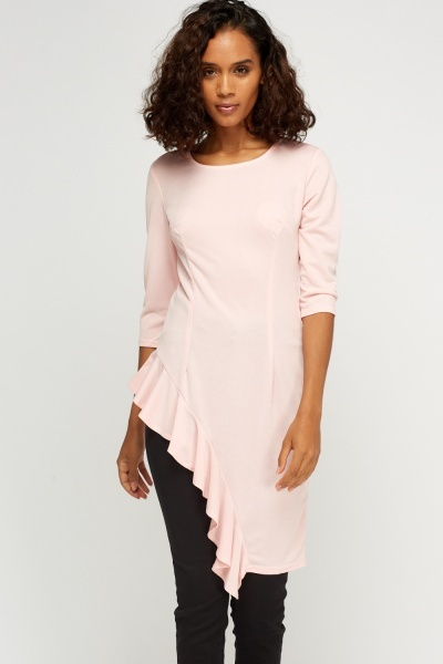 Flared Hem Asymmetric Top