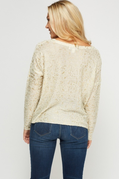 Metallic Insert Knitted Jumper
