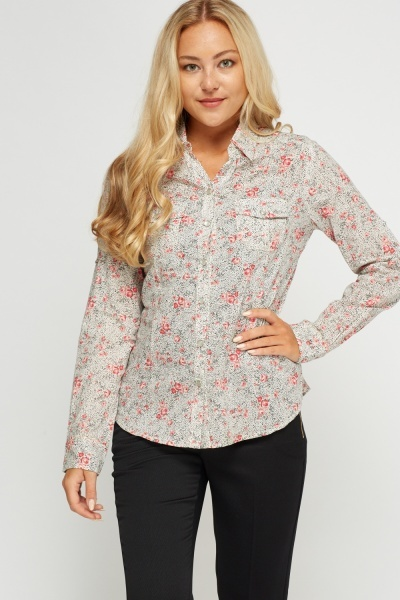 Mixed Print Shirt