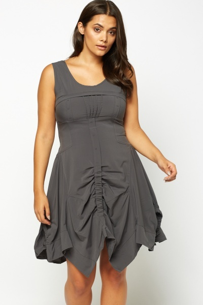 Asymmetric Sleeveless Dress