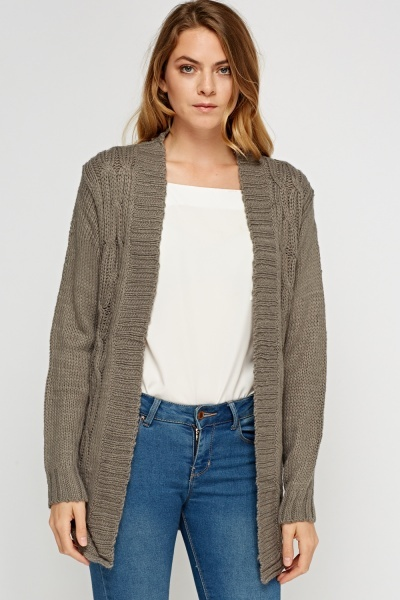 Cable Knit Casual Cardigan
